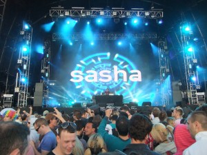 Sasha playing on the main stage at SW4