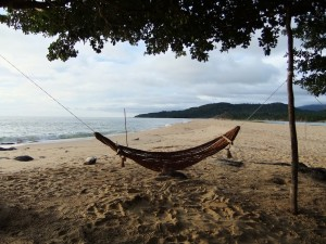 Nothing beats relaxing on a beach in a hammock.