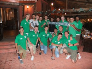 The Nottingham United FC Team that toured Bulgaria, August 2010