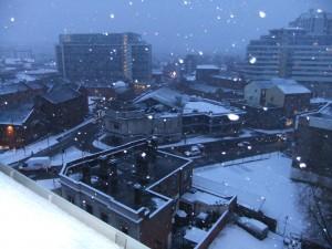 Snow outside my window