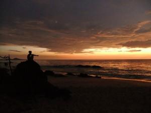 Sunset at John Obey Beach, Sierra Leone, October 2010