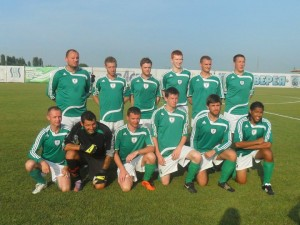 Nottingham United FC in Bulgaria, July 2011. Photo courtesy of my team mate, Mike Oliver.